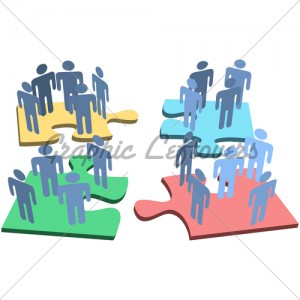 human-group-people-organization-puzzle-pieces-solution